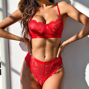 S13328I-1 Hot sell china factory supply fashion lingerie underwear lace England sexy girl photo lingerie 2 piece lingerie set
