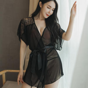Wholesales Direct selling of women fashional Lace Lingerie plus size big swing sling nightdress Sexy Underwear sling skirt