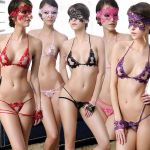 2021 valentines day lace cosplay sets women open crotch lace hot transparent erotic plus size sexy lingerie set with eye mask