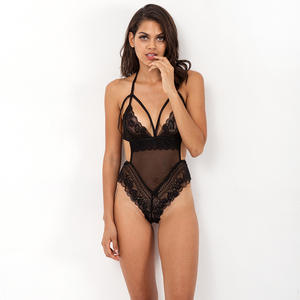 NY-1531 New Amazon Hot Sales Embroidered Lace One Piece Seductive Lingerie