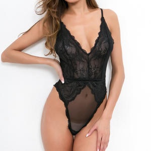 NY-1501 New Amazon Hot Sales See Through One Piece Lace Lingerie
