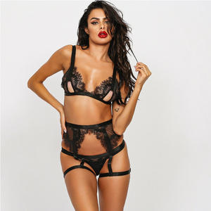 2021 valentines day women transparent extreme temptation adult fashionable elastic lace adjustment sexy female lingerie set
