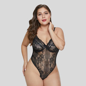 2021 Valentines day women girl lace underwear plus size lingeries corset one piece pajamas woman erotic sexy lingerie bodysuits