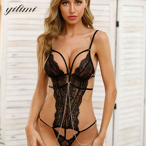 New Listing High Quality Sexy Women Open Bra Teddy Bodysuit Lingerie Set