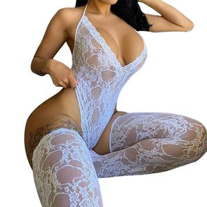 HOT 2021 NEW Wholesale custom Size Lingerie Transparent Underwear Erotic Lace Robe Lingerie Set Sexy Lingerie Women
