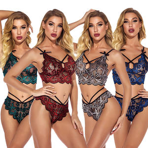 2021 New arrival S-2XL 4 Colors Valentines day women lingerie Lace cut out tight nightclub sexy lingeries